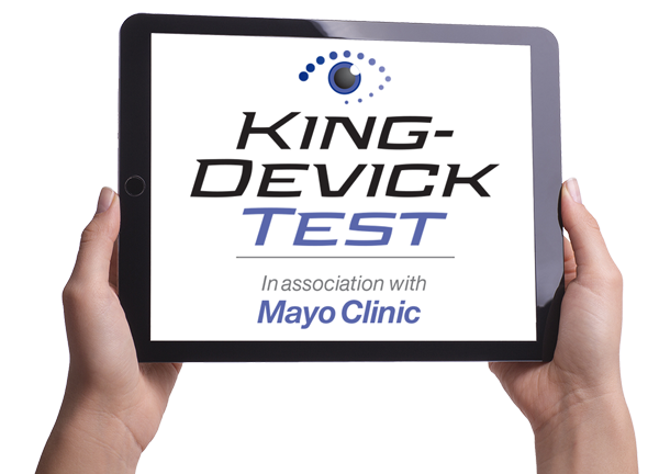 tablet with King-Devick Test in association with Mayo Clinic