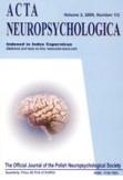 Acta Neuropsychologica 2015;13(3):229-36