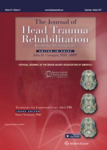 J Head Trauma Rehab. 2018;33(5): 354-361.