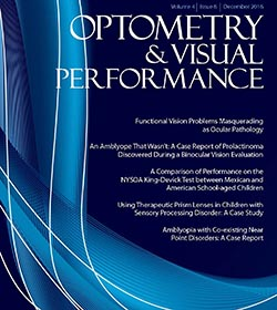 Optometry & Visual Performance: Volume 4  |  Issue 6